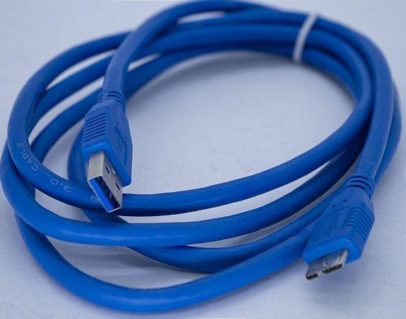 Cabo USB 3.0  Para HD Externa 3mt US3.0-AM-3M