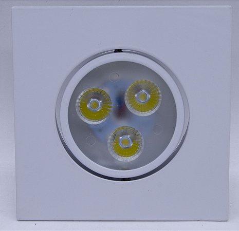 Spot LED 3W Branco Frio Quadrado  THF - 3W