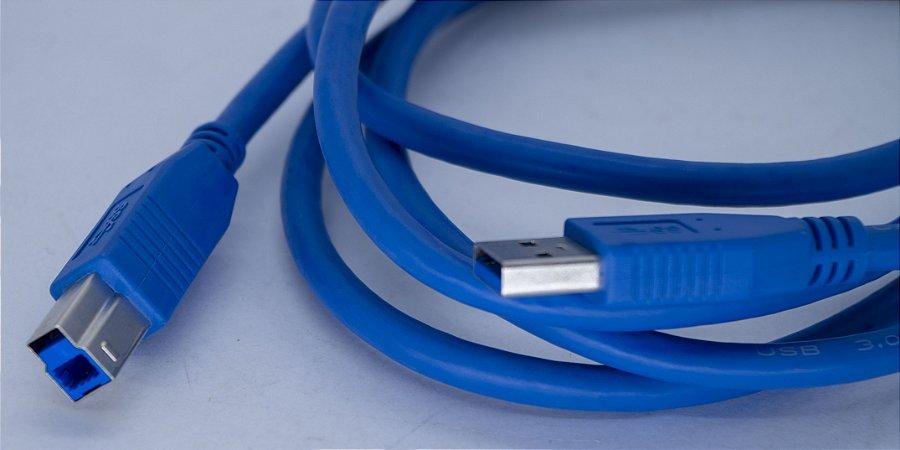 Kit 10Un.Cabo USB 3.0 Para Impressora 3mt  US3.0-AB-3M