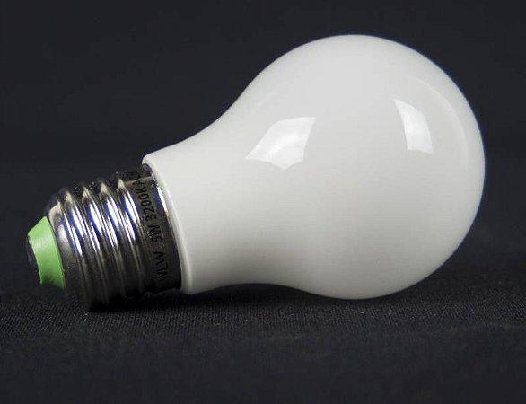 LAMPADA BULBO LED Vidro 360°IP57 Prova d`agua 5w Branco Quente E27
