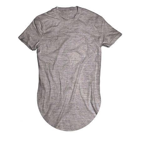 Camiseta Longline Cinza Mescla