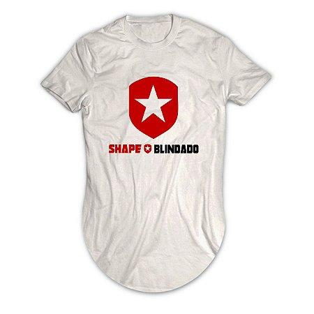 Camiseta Longline Escudo Shape Blindado