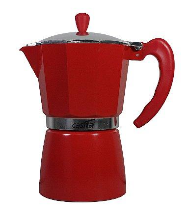 Cafeteira Tipo Italiana Vermelha P/ 9 xícaras - 450ml