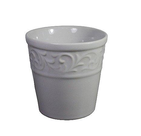 Vaso de Cerâmica Turim Branco