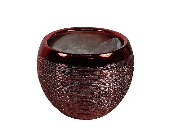 Vaso de Cerâmica Bolinha Vermelho