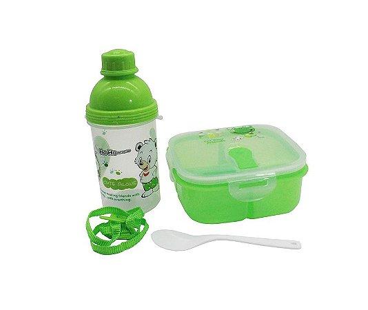 Kit Alimentação Ursinho Verde