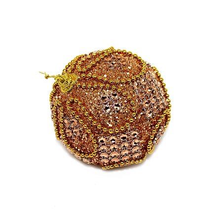 Bola Decorada Pedras e Glitter 8cm
