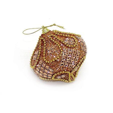Bola Cebola Pedras e Glitter 8cm