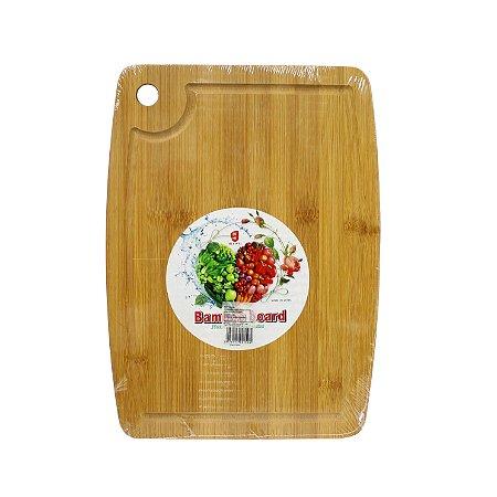 Tábua de Bambu p/ Carne Retangular