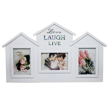 """Porta Retrato """"Love Laugh Live"""""""