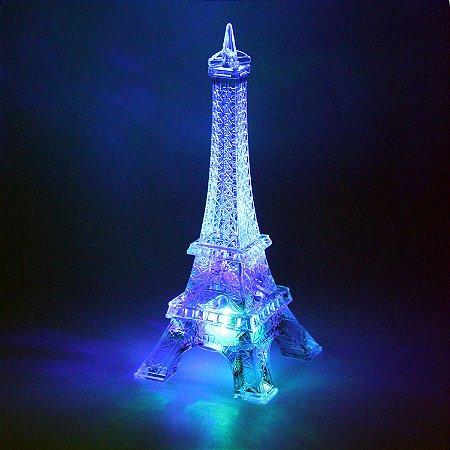 Torre Eiffel Acrílico com LED 14cm