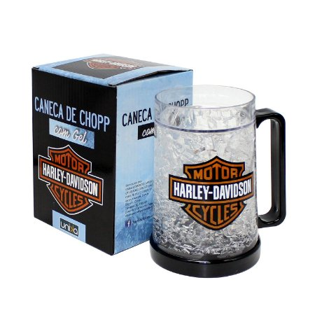"Caneca Gel Chopp ""Harley Davidson"" 400ml"