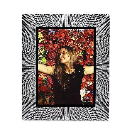 Porta Retrato Glitter Prata 15x20