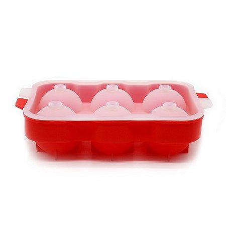 Forma de Gelo 6 Bolas Silicone