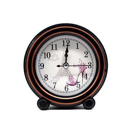 Relógio de Mesa Vintage Redondo