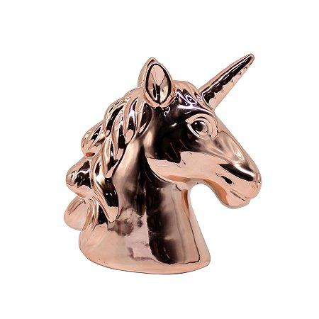 Cofre Cabeça de Unicórnio Bronze
