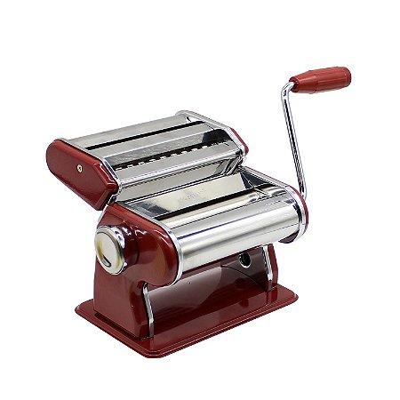 Máquina p/ Macarrão Inox Vermelha
