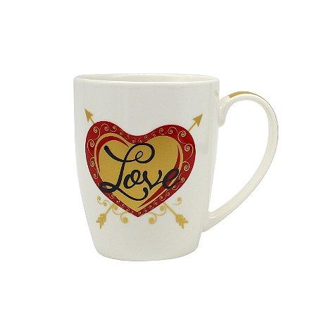 Caneca Porcelana Love
