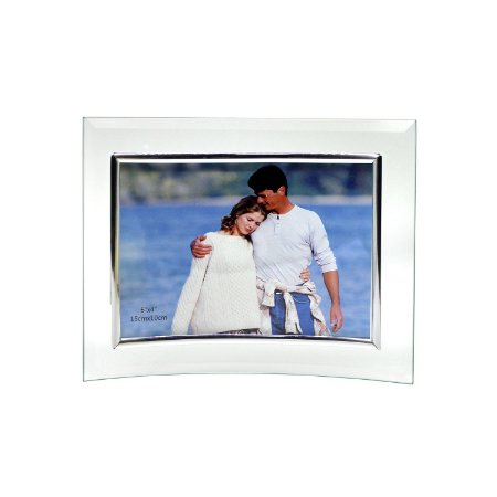 Porta Retrato de Vidro Horizontal Curvo 10x15