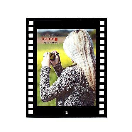 Porta Retrato de Vidro Filme Vertical 15x20