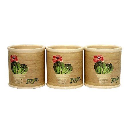 Cachepot de Cerâmica Deset Cactus 7cm - 1 Peça
