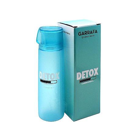 """Garrafa com Caneca """"Detox"""" 600ml"""