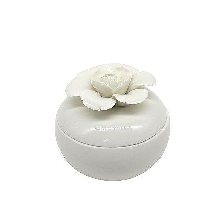 Porta Joias de Porcelana Flor