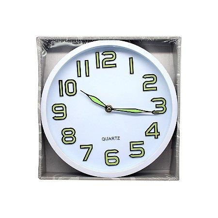 Relógio de Parede Brilha no Escuro Redondo