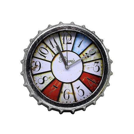 Relógio em Formato de Tampa de Garrafa 21cm