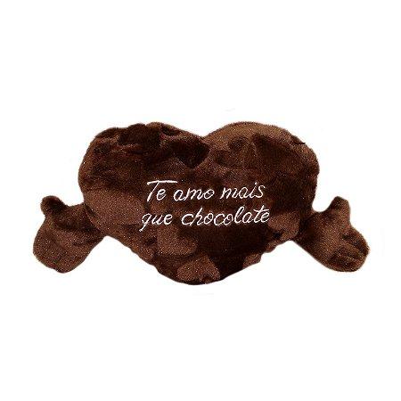 Almofada Coração com Cheiro de Chocolate P