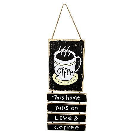 Placa Decorativa Coffee