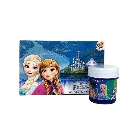 Tinta Guache 6 Cores Frozen