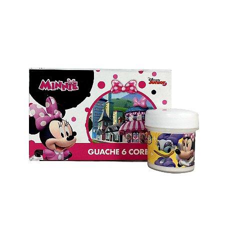 Tinta Guache 6 Cores Minnie