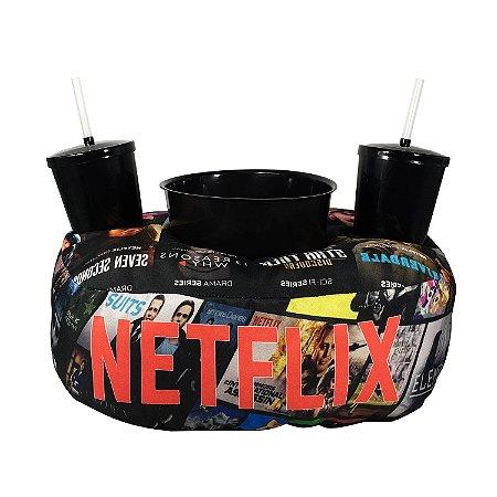 "Almofada Porta Pipoca ""Séries Netflix"""
