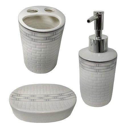 Jogo Banheiro de Porcelana