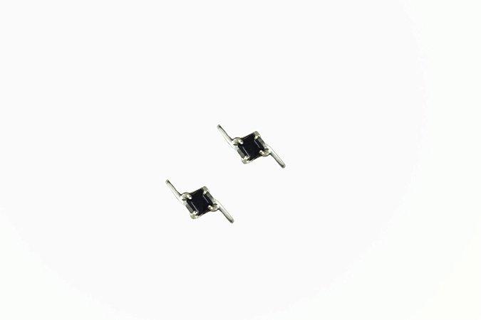 Brinco Purity - Prata 950, onix