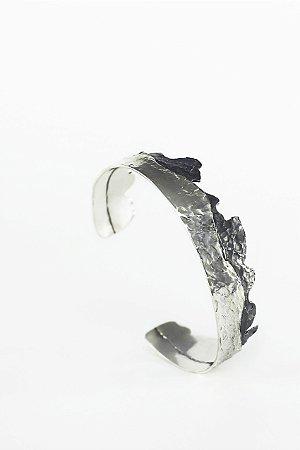 Pulseira Cracked - Prata 950 e Prata 950 Oxidada