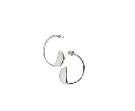 Brinco Proporção Aurea Espiral - Grande - Prata 950