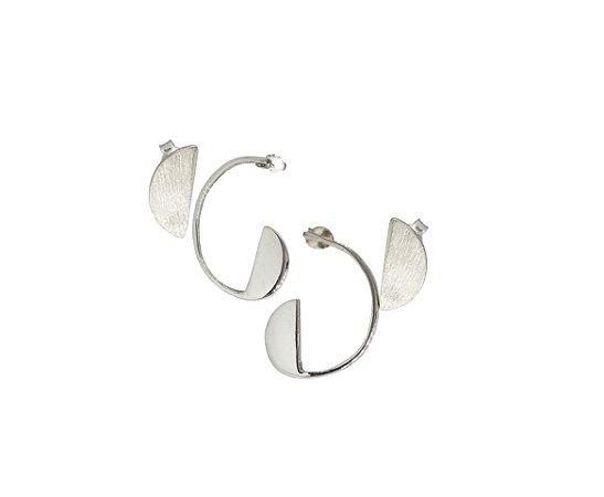 Brinco Proporção Aurea Espiral - Conjunto - Prata 950