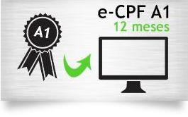 E-CPF A1 - CERTIFICADO 12 MESES