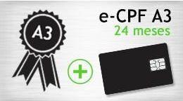 E- CPF A3 - SMART - CERTIFICADO 24 MESES