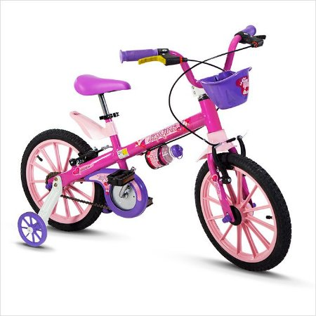 Bicicleta 16 Nathor Aco Fem Top Girls Rosa