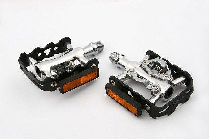 Pedal Clip Dupla Face ZP101S Eixo Cromoly MTB Com Rolamento - ZERAY/FEIMIN