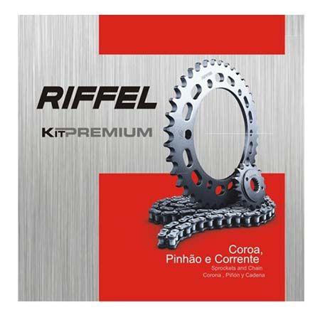 KIT TRANSMISSÃO NXR 160 / XRE 190 (48/16/128) RIFFEL PREIUM