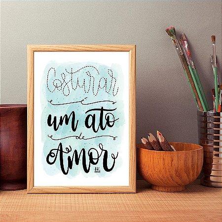 """Poster """"Ato de amor"""""""