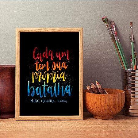 """Poster """"Própria batalha"""""""