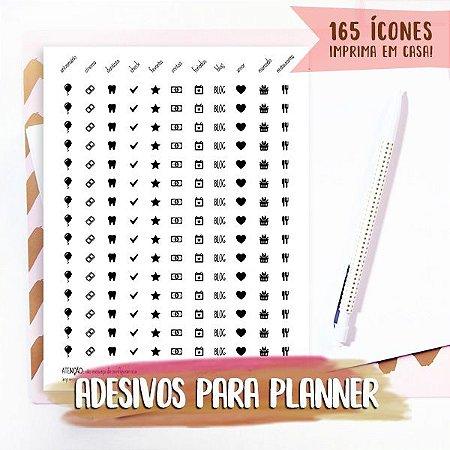 Kit Digital - Adesivos para planner