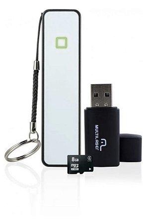 Kit Micro SD Pendrive Powerbank 8GB
