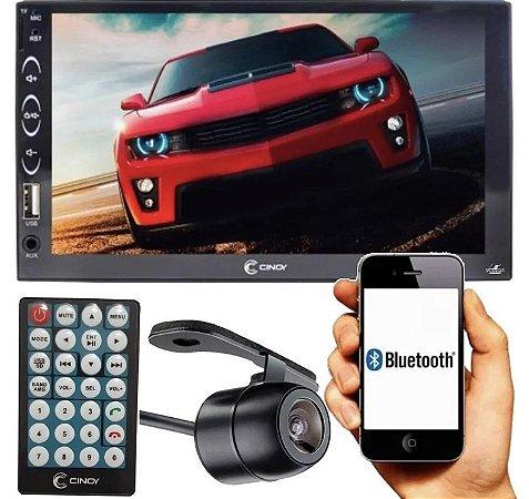 Multimídia Mp5 Player 2 Din Usb Espelhamento Bluetooth Cinoy + Câmera de Ré