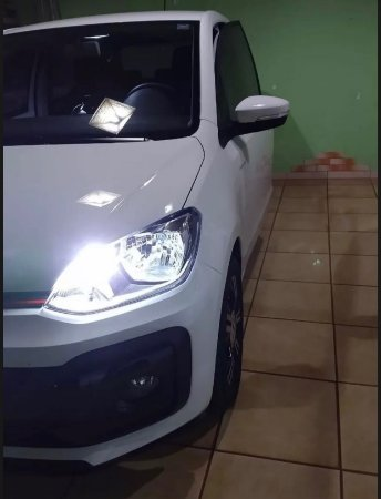 Led DRL Luz Diurna Vw Up Tsi 2019 2020 Branco Puro
